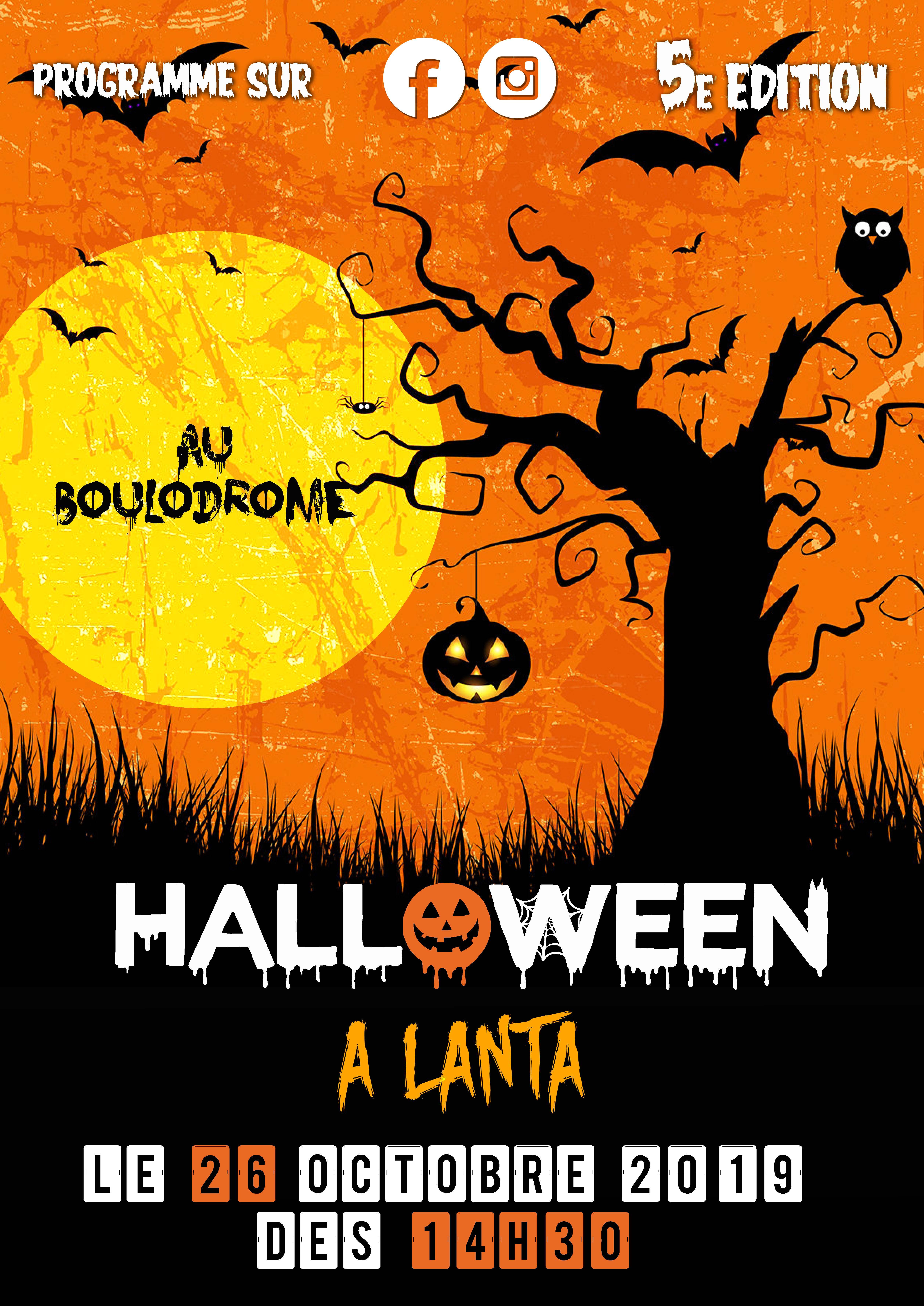 affiche halloween A2
